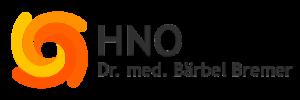 Button Logo HNO mit Text Dr. med. Baerbel Bremer